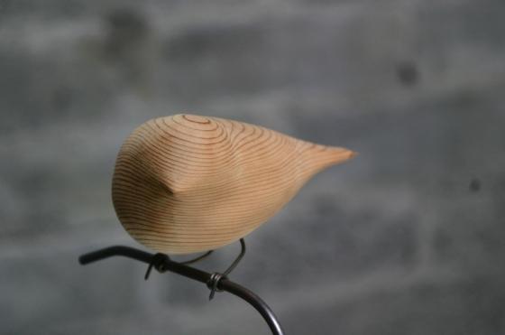 birds -26 carved wooden bird by Micheal Lentz-1