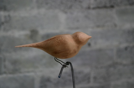 birds -26 carved wooden bird by Micheal Lentz
