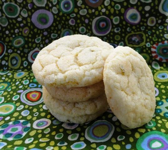 Lemon-lime sugar cookies