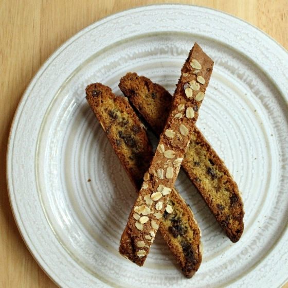 22 - oatmeal chocolate biscotti
